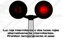 Semáforo en Rojo Intermitente